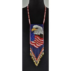 Beaded Eagle Pouch by Rose Albert
