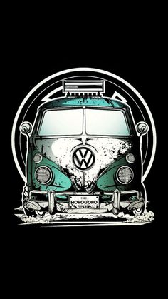 New Cars Cartoon Design Ideas Animes Wallpapers, Car Wallpapers, Retro Cars, Vintage Cars, Kombi Hippie, Car Illustration, Illustration Pictures, Vw T1, Volkswagen
