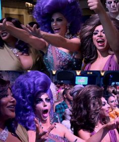 RuPaul's Drag Race, Season 8 Finale: Alyssa Edwards and Shangela in the audience