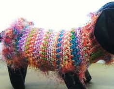 Wild Multicolored Crochet Dog Sweater Pet Clothes