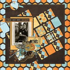 A wonderful layout created by Joanna using My Guy by Bekah E Designs.