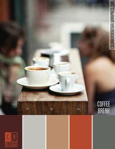 Coffee Break | Color Blocks Design | MORE on http://www.pinterest.com/elibeato/colours/
