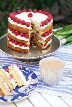 Raspberry & White Chocolate Cake - Tanya Burr
