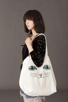 Love that cat bag ;)
