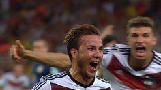 Mario Gotze celebrates