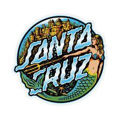 Santa Cruz Marmeid Dot Skateboard Sticker 3.2in | eBay