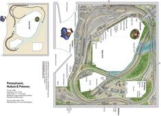 Pennsylvania, Hudson & Potomac - from Track Plan Database | ModelRailroader.com