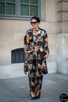 printastic. #TinaLeung in Rochas in Paris.