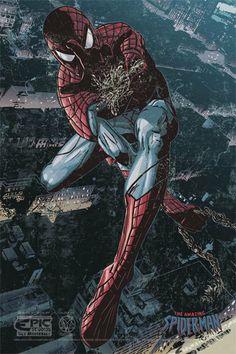 Spiderman 12x18 Original Art Print by EpicStudios on Etsy, $9.99