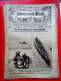 Militaria k. Zeitschrift Magazine 1917 Der U-Boot Krieg submarine Marine Magazine, History, Militaria, Character, Ebay, Magazines, War, Warehouse, History Books