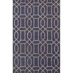 Urban Luxe Pattern / Grey / Art Silk Area Rug
