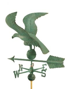 weathervane I like this one the best Vive Le Vent, Blowin' In The Wind, Lightning Rod, Weather Vanes, Wind Spinners, Color Stories, Bird Houses, Wind Chimes, Metal Working