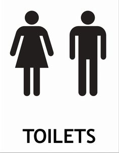 free printable toilet signs - I want to use these as a template on some prettier…