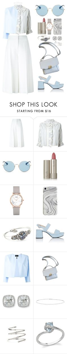 """""""Geen titel #646"""" by melissa-klink ❤ liked on Polyvore featuring Rosetta Getty, J.W. Anderson, Ray-Ban, Ilia, CLUSE, Recover, Sweet Romance, Prada, Rhea Costa and Frederic Sage"""