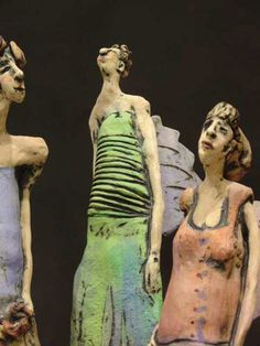 Paper Clay Figures by Chrissie Callejas