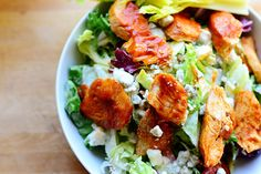 Buffalo Chicken Salad, this recipe is so simple I don't know why I've never thought if before! Luckily there is the Pioneer Woman to think of these things for me :P