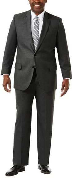 Haggar Mens 4-Way Stretch Diamond Weave Classic Fit Suit Separate Pant Business Suit Jacket J.M