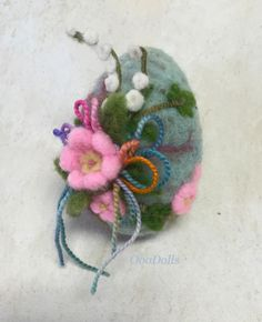 Easter egg - needle felt