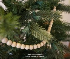 """DIY Christmas Tree Garland 