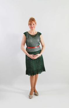 Perfect crochet woman dress scoop neckline by JSOTsHumanHeritage