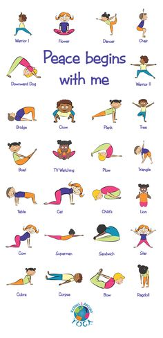 Kids Yoga Poses, Yoga For Kids, Exercise For Kids, Gym For Kids, Stretches For Kids, Physical Activities For Kids, Preschool Activities, Preschool Yoga, Childrens Yoga