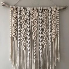 Large macramé wall hanging/ large woven wall hanging /Yarn wall hanging/yarn tapestry/Tassel wal - Large macrame wall hanging, nursery Scandi style wall decor, boho interiors, woven leaves, boho home - Macrame Design, Macrame Art, Macrame Projects, Macrame Knots, Driftwood Macrame, Macrame Mirror, Macrame Modern, Crochet Projects, Diy Projects