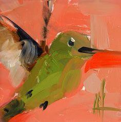 Angela Moulton - daily painting. http://angelamoulton.blogspot.com/2015/07/hummingbird-no-116-painting_17.html