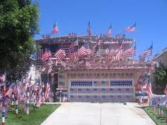 4th of July House.  Too many flags, LOL!