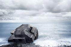 Frankreich, Atlantikwall, Bunker am Strand I France, Atlantic Wall, bunker on the beach