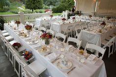 Madrona Manor Wedding Dinner on the Palm Terrace