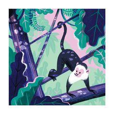 Jungle Monkey Art Print - by Carolina Buzio