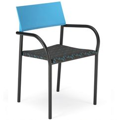 Community Cym Multipurpose is versatile, stackable, and post-consumer recyclable. These go green chairs are available in six different colors and two powder coating options, can be armed or armless, and can be fitted with a swivel base.