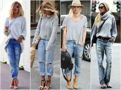C чем носить джинсы бойфренды