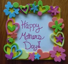 How to make a Mothers Day card from craft foam