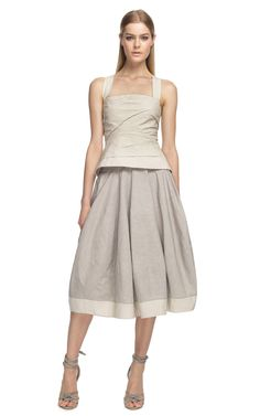 Donna Karan New York Bonded Bustier and Full Skirt at Moda Operandi