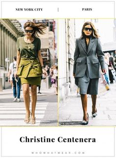 How Christine Centenera dresses in New York and Paris... - Street Style
