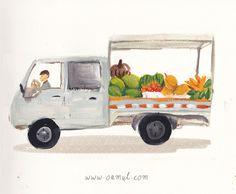 On The Road GIF by Oamul Lu – Fubiz™