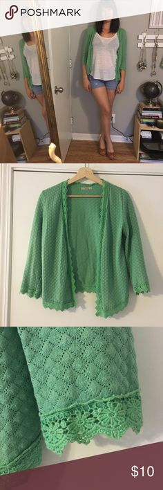 Mint Green Sweater Is it a grandma sweater or is it super trendy? Who knows, but I think it's adorable. Great color for spring Darling Sweaters Cardigans