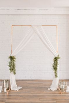 Party Ideen # 67 copper arch, # copper arch Wedding And Bridal Shower Favors From Wooden Spoons Both Simple Wedding Arch, Metal Wedding Arch, Diy Wedding Backdrop, Wedding Ceremony Ideas, Copper Wedding, Ceremony Backdrop, Simple Weddings, Vintage Wedding Arches, Backdrop Stand