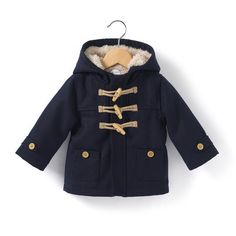 Image Faux Fur Lined Duffle Coat, 1 Month-3 Years La Redoute Collections