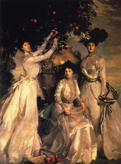 The Acheson Sisters, 1902 by John Singer Sargent. Realism. portrait