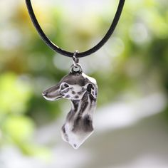 10pcs Greyhound Head Necklace Dog Pendant Whippet Italian Necklaces & Pendants Silver Necklace Charms Women Christmas Gift