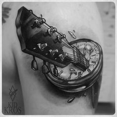 Guitar in compas, music inspiration tattoo #music #tattoo