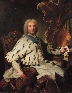Msgr. le Cardinal Henri-Oswald de La Tour d'Auvergne, Évêque de Vienne (1671-1747), Commandeur de l'Ordre du Saint-Esprit. / By H. Rigaud.
