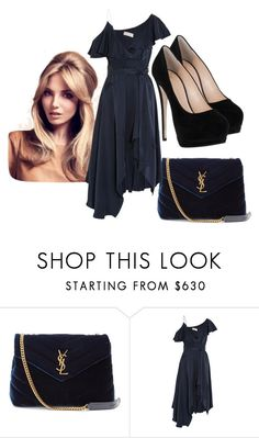 """""""Sawyer - Godmother's Rehearsal"""" by ekidd ❤ liked on Polyvore featuring Yves Saint Laurent, Zimmermann and Giuseppe Zanotti"""