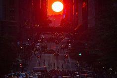 Manhattanhenge: la fascinante alineación solar con las calles de Manhattan (FOTOS)