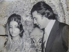 Dimple Kapadia and Rajesh Khanna.