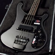 A limited edition Rickenbacker 4003 in matte black