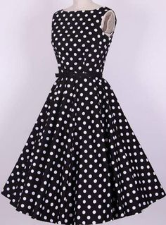 95e36a3110a rockabilly pin up vintage dresses retro Audrey dress knee length long women  new fashion swing polka dots vestidos plus size €
