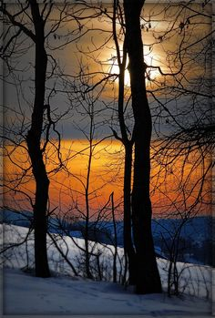 Twilight time, Switzerland in winter